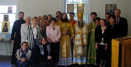 Bishop Peter with some of the members of St. John Russian Orthodox Community